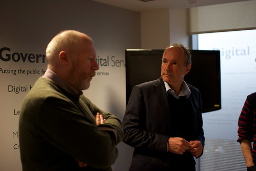 Paul Downey and Tim Berners-Lee | by cackhanded