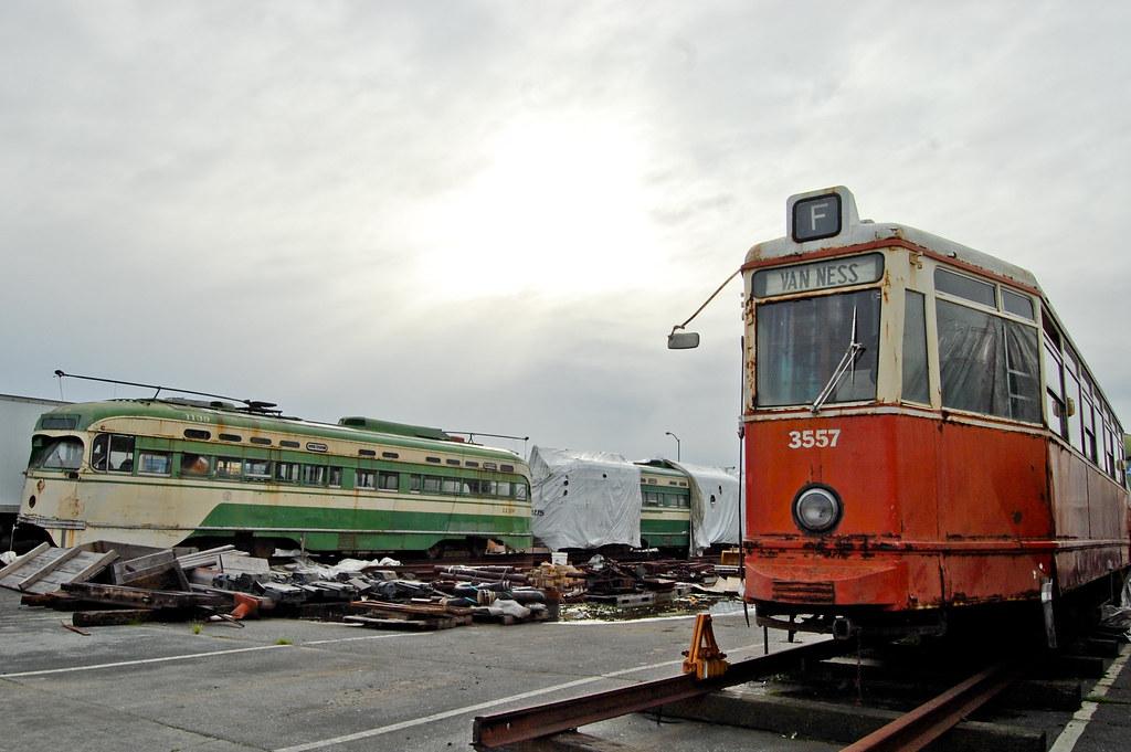 Streetcars >> Streetcar Boneyard | MUNI Marin Division Yard, San Francisco… | Todd Lappin | Flickr