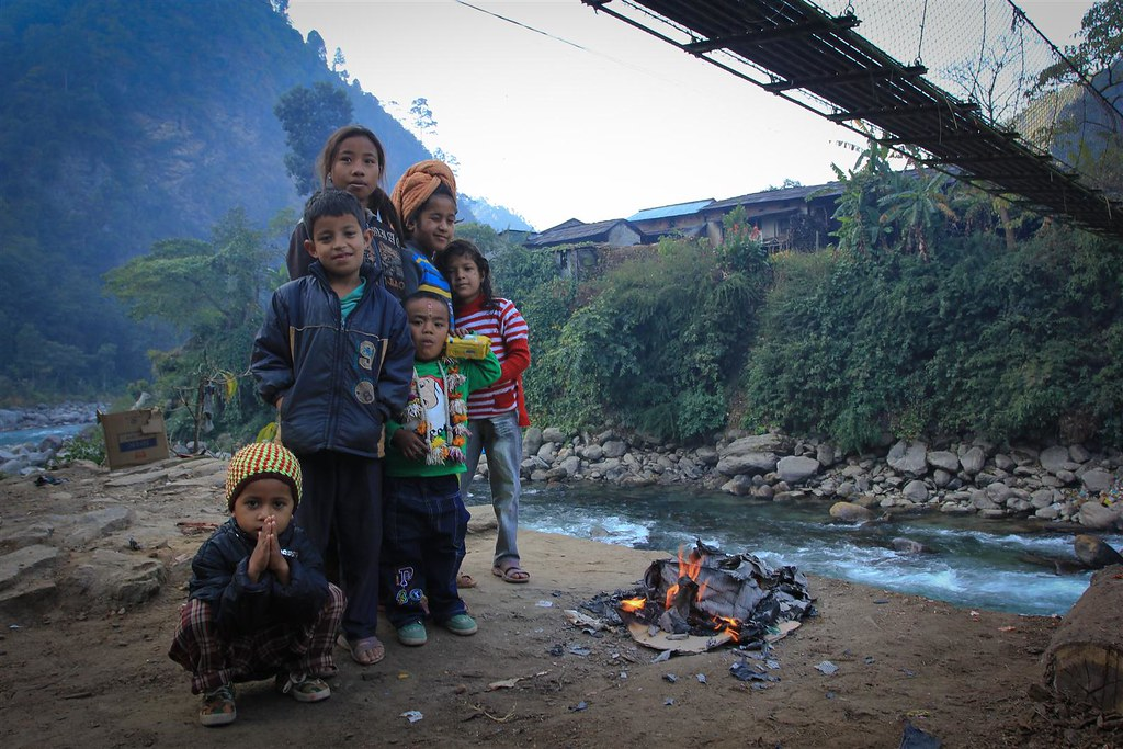 Children of Singati Bazar welcome us during our 2012 GHT trek. The village has been severely hit by the quake now with only few survivors. Are thoughts are with the hospitable people of the whole valley we passed through.