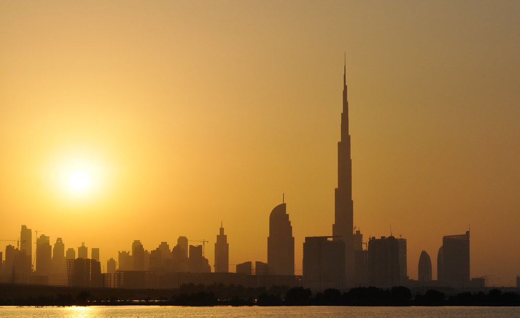 Dubai Skyline At Sunset Shaikha Al Khayyal Flickr