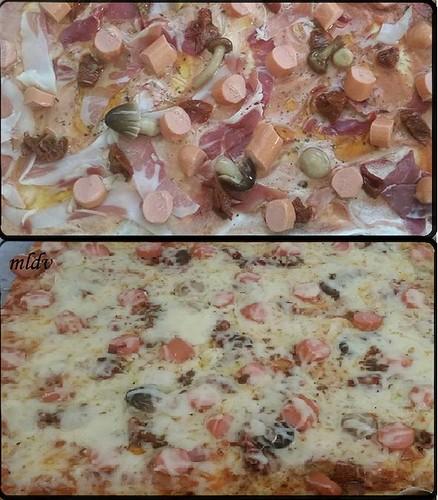 pizza champignons sacla