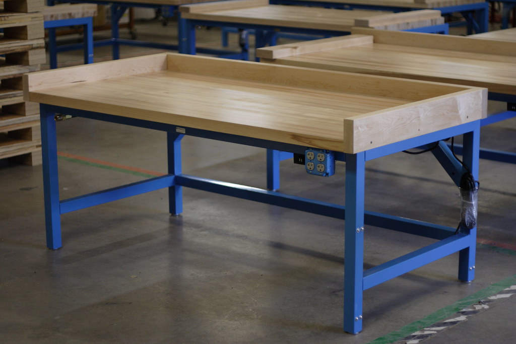Industrial Work Table | Formaspace | Maple Bench With Backspu2026 | Flickr
