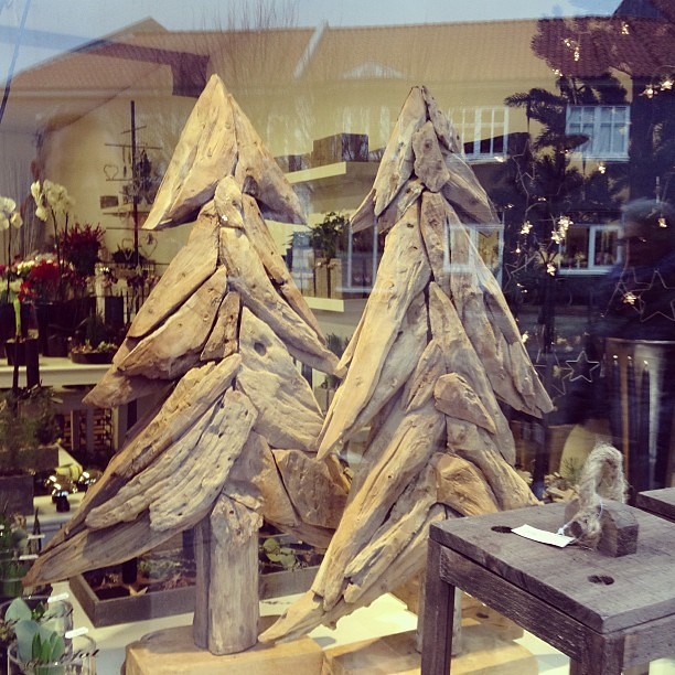 20 driftwood spotted in the window of a for How to make a hanging driftwood christmas tree