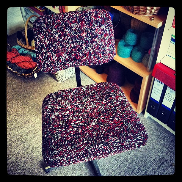 The Chair Cover Now Complete With Backrest Knitting Cr Flickr