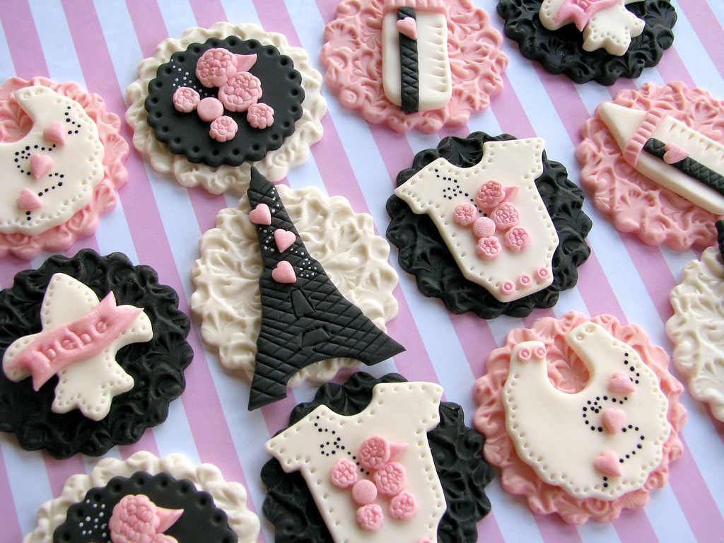 Parisian Baby Shower Cupcake Toppers Lynlee Flickr