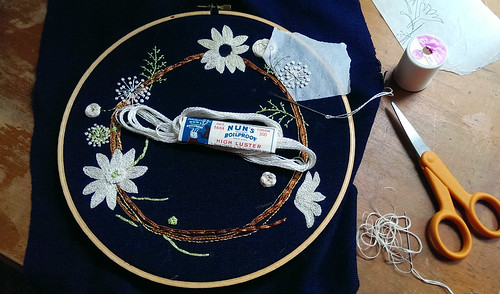 Stitching over tracing paper | by floresita