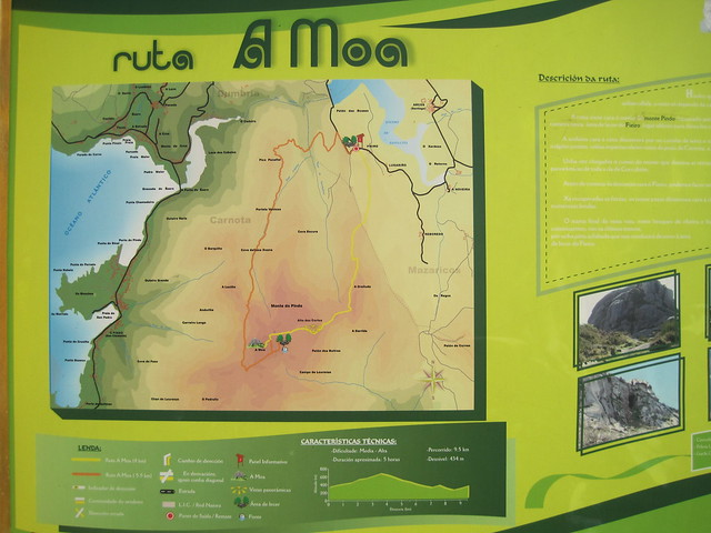 Panel Informativo ruta subida al monte Pindo