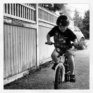 Joe learning to ride a bike | by lisa.williams
