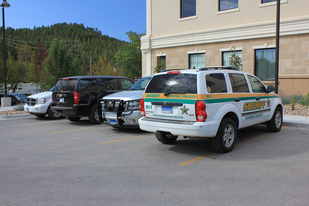 South County Dodge >> Custer County Sheriff Parking Lot, South Dakota   One white …   Flickr