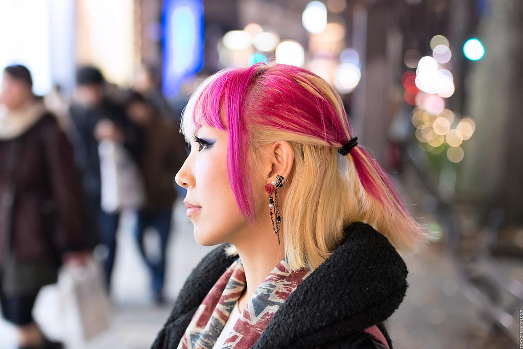 Harajuku Pink Streaked Hair Eye Catching Hair Color Snappe Flickr