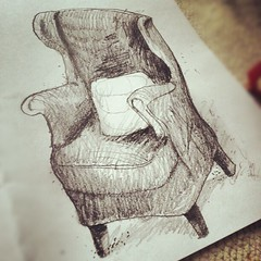 Unique Comfy Chair Drawing Wildwoodstacom Armchair Leather Tub