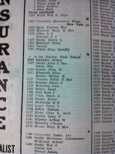 Page from 1921? City Directory | by In Shaw