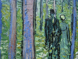 """Undergrowth with Two Figures"" - detail 