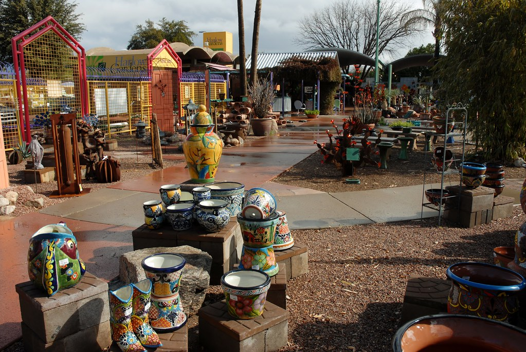 ... 20130128 Talavera Pottery At Harlow Gardens On Pima In Tucson (18) | By  Lasertrimman