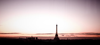 Paris skyline at sunset | by Haleigh Walsworth