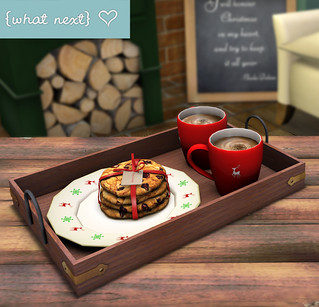 {what next} Christmas Chocolatier Drinks Tray for Together for Sway | by What Next/Winter Thorn