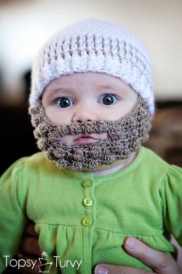 Crochet Bearded Beanie Pattern Free Baby Imtopsyturvy