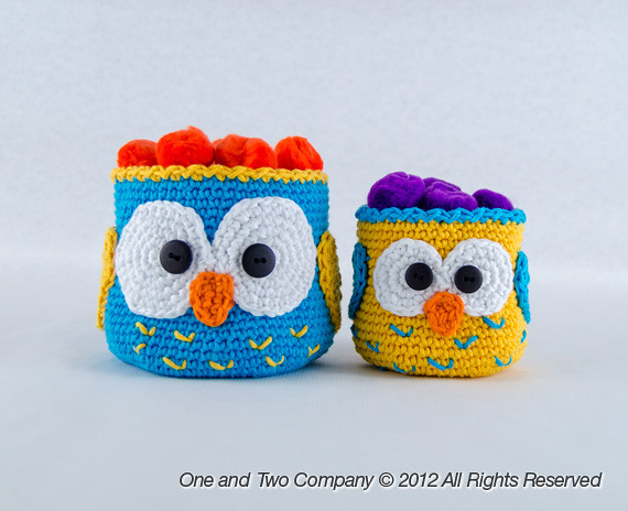 Owl Crochet Baskets Crochet Pattern One And Two Company Flickr