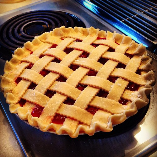 Cherry pie for Amy's party | by shortandhat