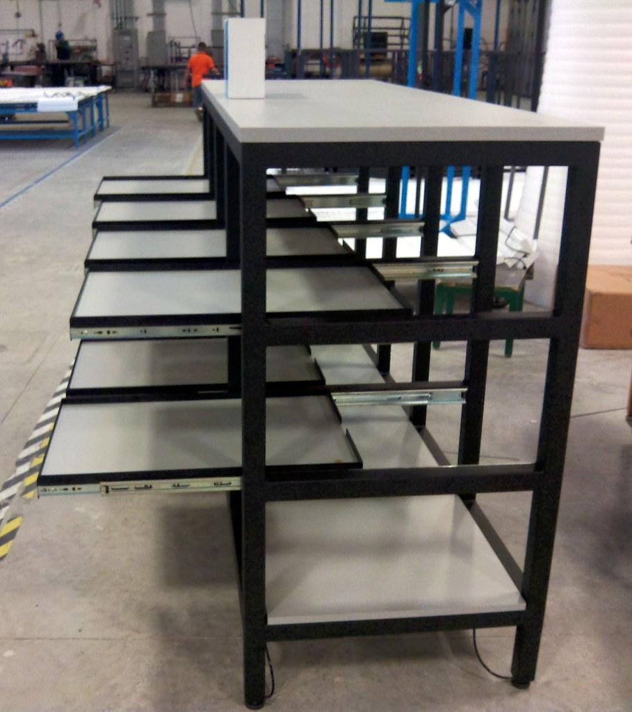Sliding Tray Shelves Formaspace Custom Industrial
