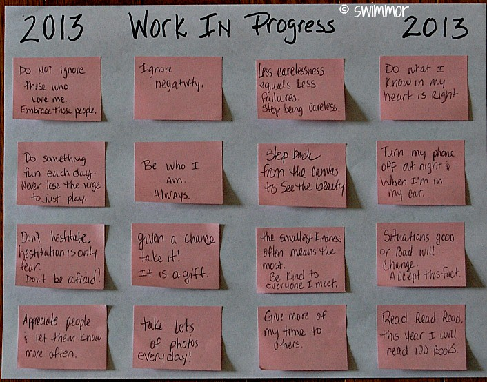 Life Lessons WIP Personal Kanban 2013 Edition