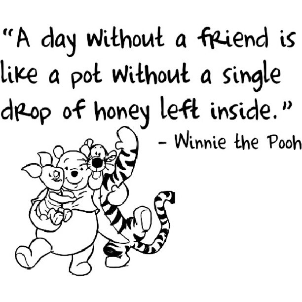 Cute Disney Quotes About Friendship : Gallery for gt pooh bear and friends quotes