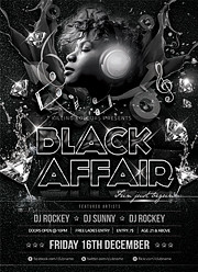 black affair party flyer flyerkart flickr