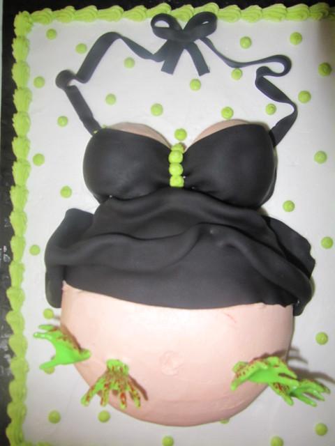 zombie baby shower cake