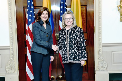 Secretary Clinton Meets With Colombian Foreign Minister Maria Angela Holguin Cuellar | by U.S. Department of State