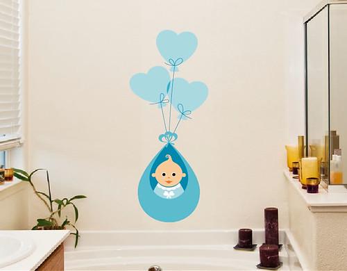 02064 1 vinilos adhesivos para beb s infantiles para ni for Adhesivos pared bebe