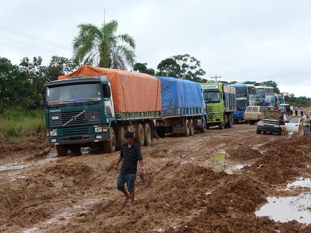 Carretera de Santa Rosa en Bolivia