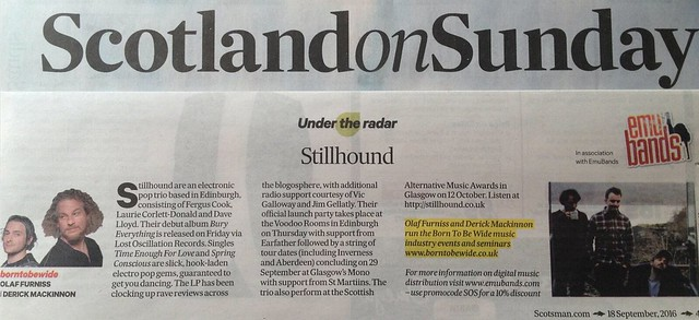 Scotland On Sunday, 18 September 2016, Stillhound