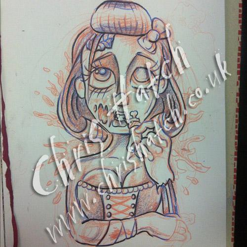 Zombie Girl Tattoo Chris Hatch Tattoo Artist Www Inkpottat Flickr