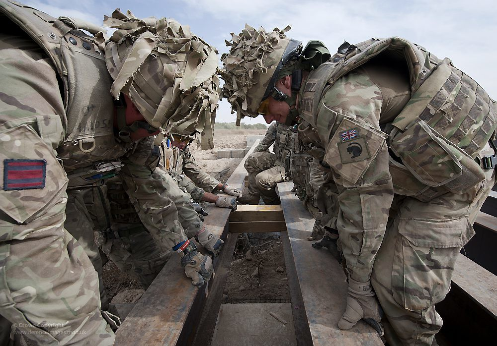 Royal Engineers Building Bridges