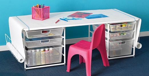 Elfa Kids Art Desk The Container Store