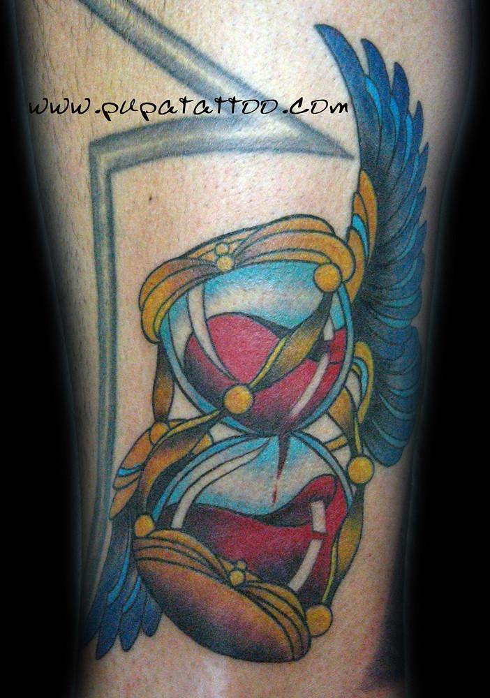 Tatuaje Reloj De Arena Pupa Tattoo Granada Pupa Tattoo Art Flickr