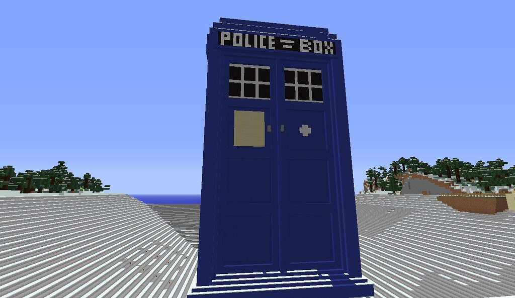 Minecraft Tardis Just A Little Minecraft Project I Ve Been Flickr