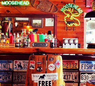 The bar at the Gunflint Trail Center | by minnepixel