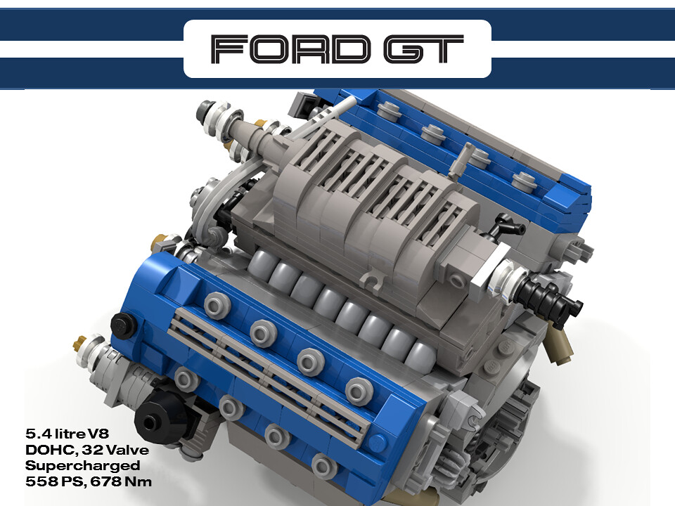 Ford Gt   Dohc Supercharged V By Lego