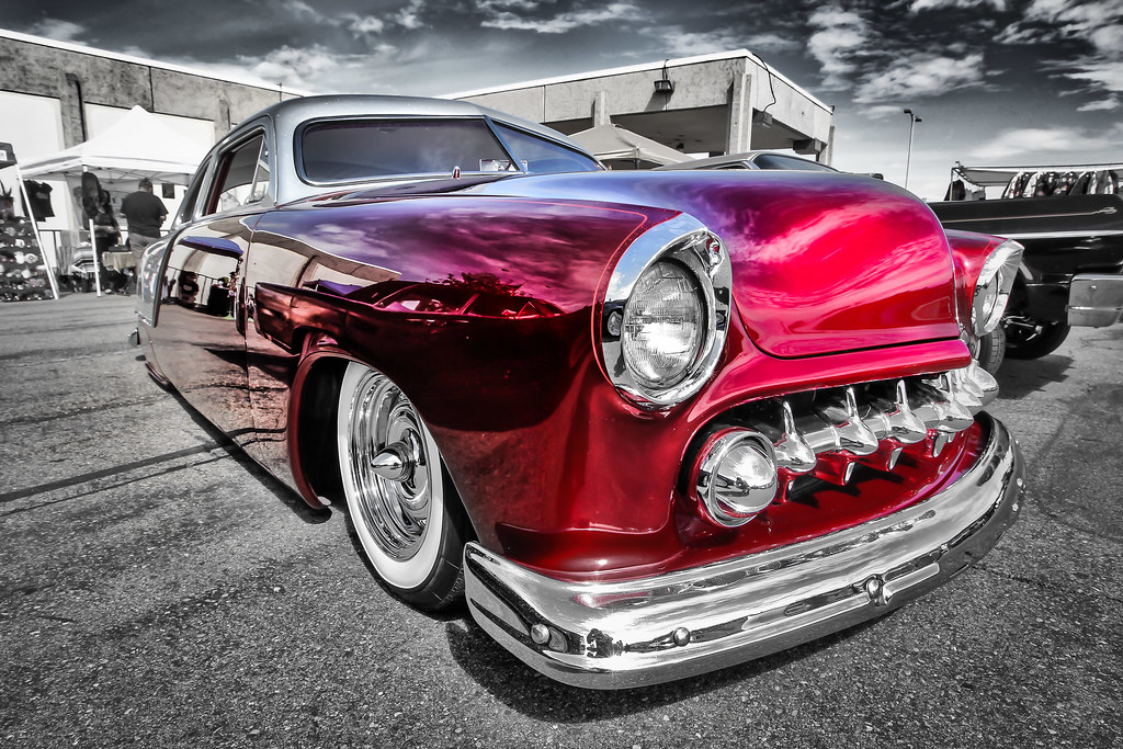 Two tone candy apple red lowrider mirror finish Classic red paint color