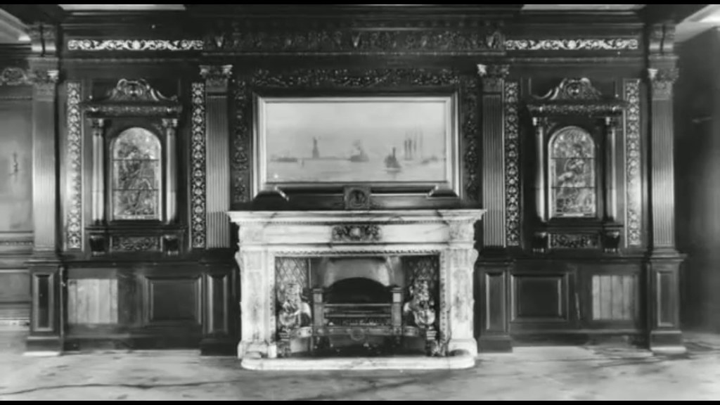 Frontal Fireplace Panel of 1st Class Smoking Room of R.M.S ...