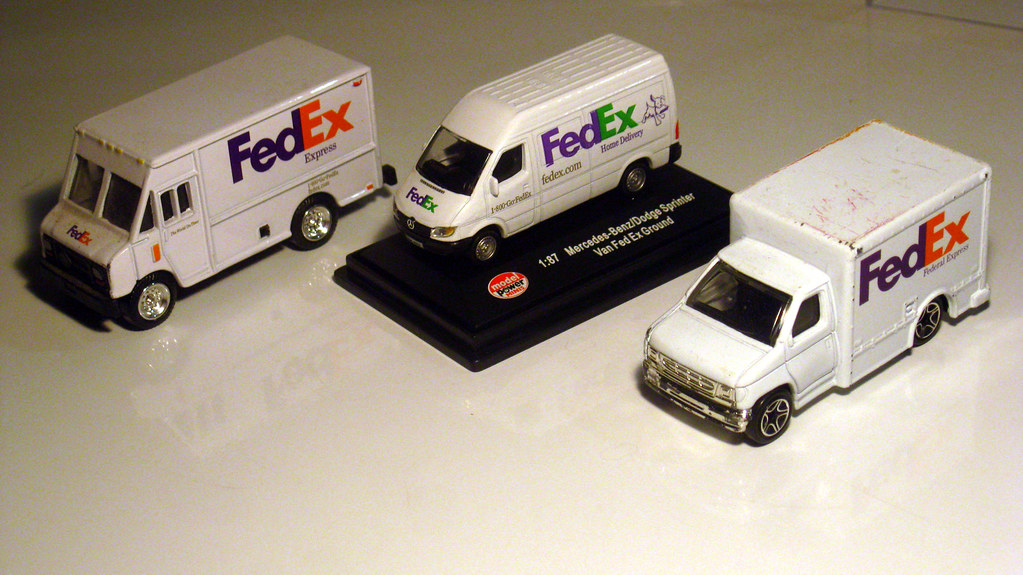 Model Fedex Delivery Vans My Very Modest Fedex Delivery