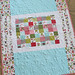 Triangle baby quilt - the back
