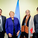 UN Women Executive Director Michelle Bachelet meets with representatives of Pakistan