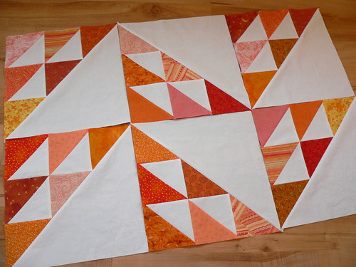 Orange Birds in the Air Blocks | by Deb@asimplelifequilts