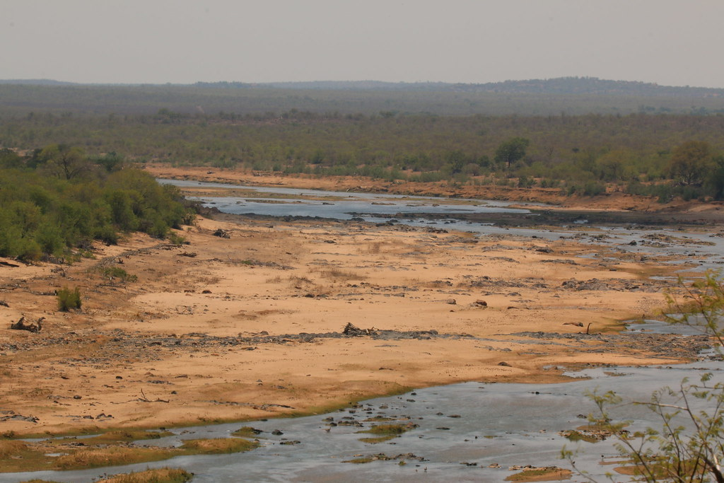 A very dry Olifants River, drought affected Kruger Nationa ...