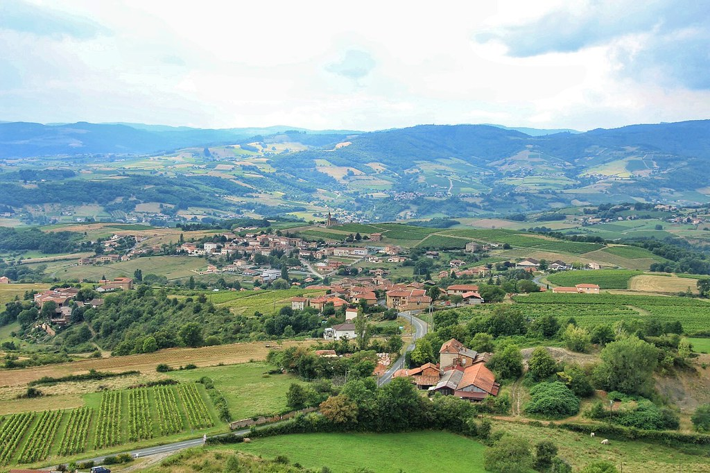 View from Oingt, France - the countrysdie