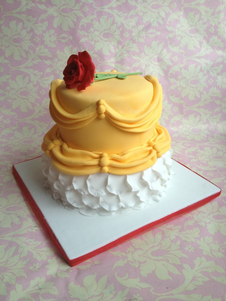 Beauty and the beast birthday cake Beauty and the beast t Flickr