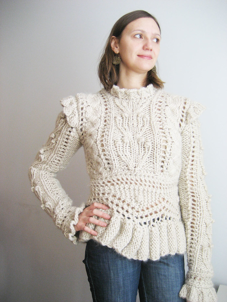 My Knitted Armor, pattern by James Coviello, Vogue Knittin? Flickr