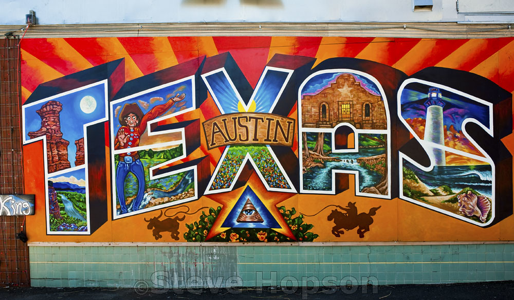 How To Get A Texas License >> Texas Mural | Austin Texas mural by Kerry Awn on Planet K, A… | Flickr